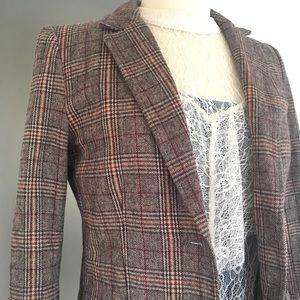 H&M Jackets & Coats - Plaid Elbow Patch Blazer